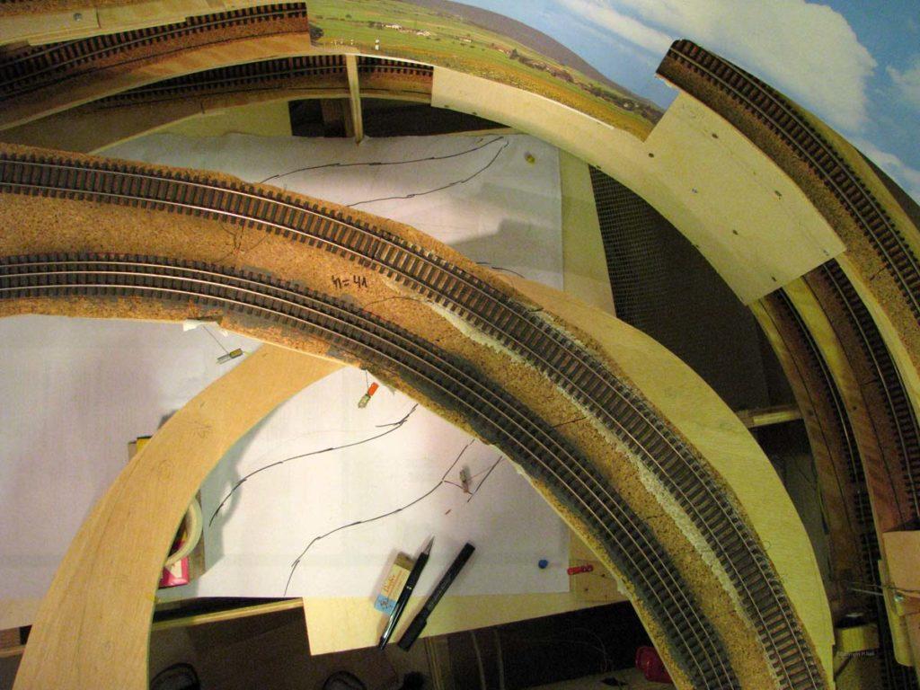 Bild von oben - Viaduktbau