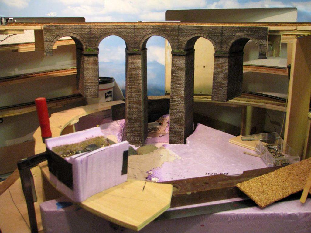 Viadukt - finaler Einbau