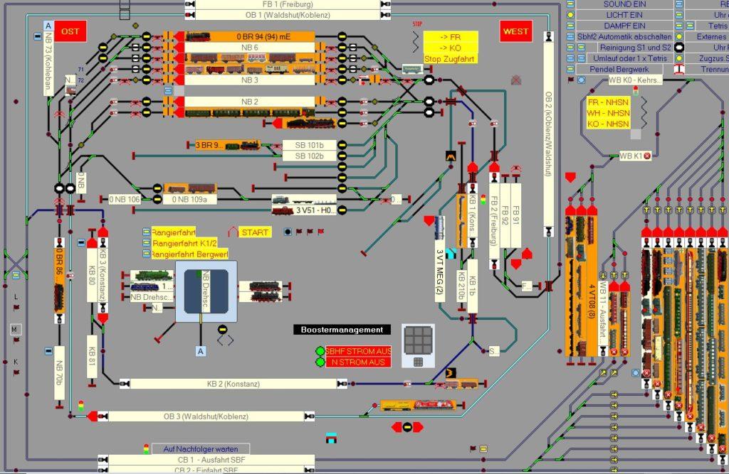 Gleisbildstellpult Computer