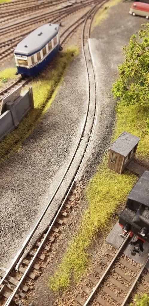 Schienen im Straßenplanum Teil 1