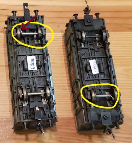 Widerstandseinbau in Modellbahnwagen